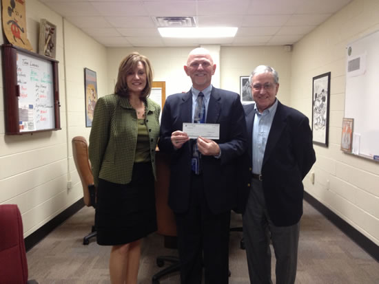 CedarStone Bank presents check to McGavock High School