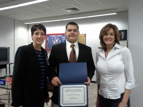 CedarStone Bank honors Student of the Month Daniel Hernandez