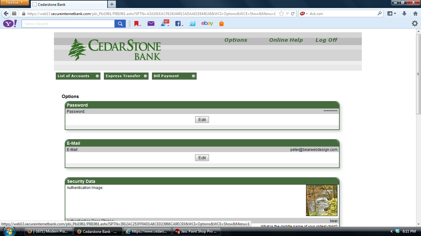 Mobile Online Banking - CedarStone Bank