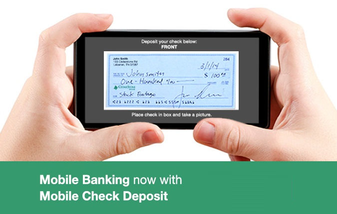 Mobile Check Deposits at CedarStone Bank