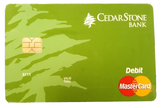 CedarStone Bank Chip Debit Card
