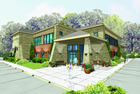 Main Office Rendering - CedarStone Bank