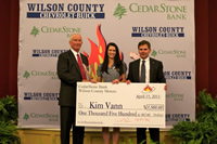 2011 Wilson County Teacher of The Year - CedarStone Bank