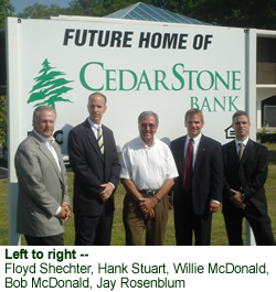 Future Home of CedarStone Bank Donelson