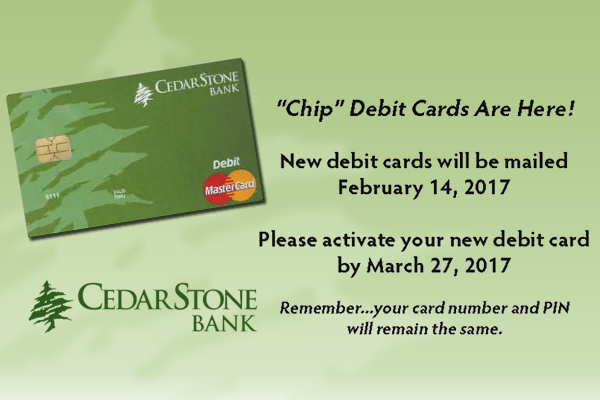 mobile slide cedarstone bank chip debit cards